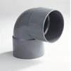 PVC Korte bocht met 2 moffen 50mm 90