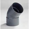 PVC Bocht met 2 moffen 50mm 45